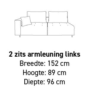 2-zit armleuning links