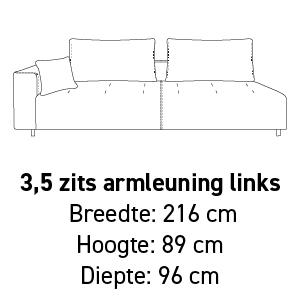 3,5-zit armleuning links
