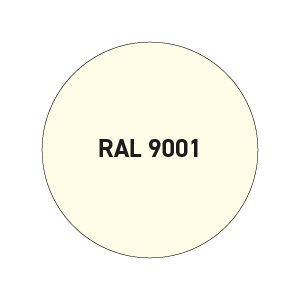 Wit RAL 9001